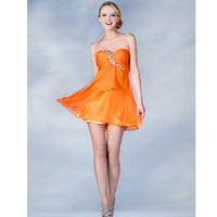 2013 Prom Dresses - Orange Short Chiffon Dress - Unique Vintage - Prom dresses, retro dresses, retro swimsuits.