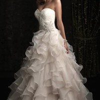 New Sexy Strapless Wedding Dresses Fashion Beaded Organza Bridal Gown Custom