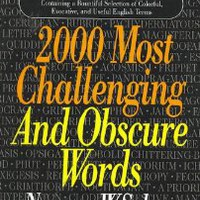 2000 Most Challenging Obscure Words: Norman W. Schur: 9780883658482: Amazon.com: Books