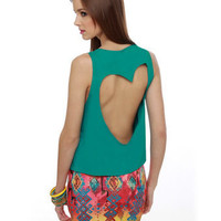 Heart Cutout Top