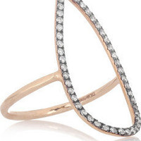 Diane Kordas|Teardrop 18-karat rose gold diamond ring|NET-A-PORTER.COM