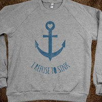 I Refuse To Sink (crew neck) - Galaxy Cats