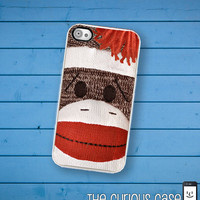 iPhone Case Sock Monkey Doll  / Hard Case For iPhone 4 and iPhone 4S Vintage Childrens Toy
