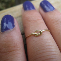 Brass Knot Knuckle Ring