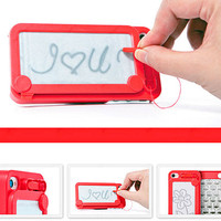 Magic Magnetic Drawing Message Board Apple iPhone 5 Case Cover - Free Protector