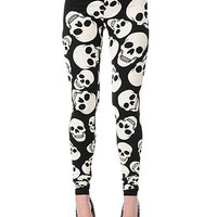 Skull Print Leggings | Sexy Clothes Womens Sexy Dresses Sexy Clubwear Sexy Swimwear | Flirt Catalog