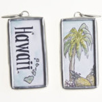 Jewelkade - Hawaii Word Stick Charm with Swarovski crystals - Hawaii