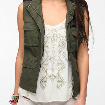 Urban Outfitters - BDG Sleeveless Hooded Surplus Vest