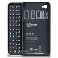 Amazon.com: Bluetooth Sliding Keyboard and Hardshell Case for Apple iPhone 4 Black Add an External Keyboard and Protect Your iPhone: Cell Phones & Accessories
