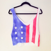 American Flag Crop Top - SOLD OUT