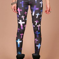 Galaxy Cross Leggings - Leggings at Pinkice.com