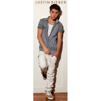 "Amazon.com: Justin Bieber - Door Music Poster (Plaid Shirt) (Size: 21"" x 62""): Home & Kitchen"