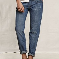 Women&#x27;s Rigid Boyfriend Jeans from Lands&#x27; End Canvas