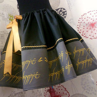 Hobbit, Lord Of The Rings, Lady Of The Rings, Geek Skirt, Tolkien, Hobbit Skirt, ROOBYS