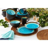 Over & Back Metropolitan Dinnerware Set - Blue (16 Pieces) *** BRAND NEW ***