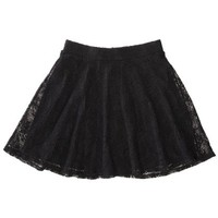 Xhilaration® Juniors Lace Skirt - Black