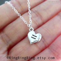 Samesex marriage support necklace Equal Love Heart by RingRingRing