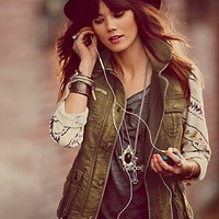 Free People Follow Your Heart Cargo Jacket
