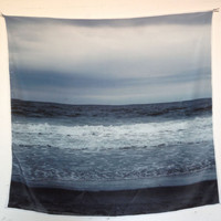Silk winter sea scarf