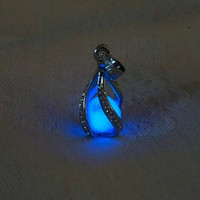 Mermaid's Magic White Gold  Midnight Blue Glow in the by Clover13