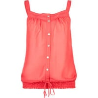 FULL TILT Lace Trim Womens Chiffon Tank