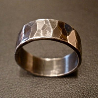 Textured Ring in Oxidized Sterling Silver by OddsAndEndsByKaley