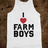 I Love Farm Boys - SWEET TANKS