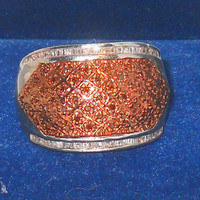 Genuine .50ctw Red Diamond silver and rose gold Ring size 8