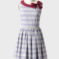 hallie striped chambray dress by Knitted Dove at ShopRuche.com