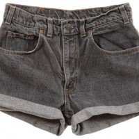 Rokit Recycled Levi's Denim Turn Up Shorts W30 - Vintage clothing from Rokit - denim shorts, hotpants,