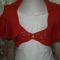Hand knit Girls cotton shrug/ custom orders