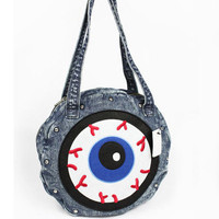 Eyeball Denim tote bag studded