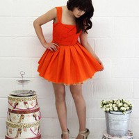 Jones and Jones Kelly Orange Dress - Jones and Jones Fashion Dresses