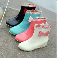 Kawaii Clothing | Botas Lluvia Kawaii Lazo / Rain Boots Cute Bow LS161 | Online Store Powered by Storenvy