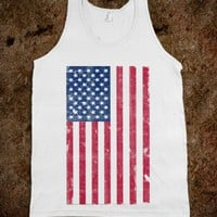 Vintage USA Flag Tank - Awesome fun #$!!*&