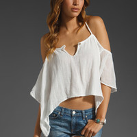 Jen's Pirate Booty Cliff Side X Back Top in White from REVOLVEclothing.com