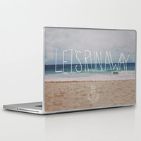 Let&#x27;s Run Away: Sandy Beach, Hawaii Laptop &amp; iPad Skin by Leah Flores | Society6
