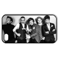 CTSLR Music & Singer Series Protective Hard Case Cover for iPhone 4 & 4S - 1 Pack - One Direction - The Black-and-White One Direction