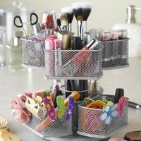 Nifty Cosmetic Organizing Carousel, Black