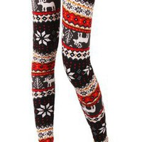 Amazon.com: Hot Christmas New knit wool like thermal leggings colorful Seasonal patterns: Sports & Outdoors