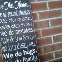Wooden Sign In This Home  by dressingroom5 on Etsy
