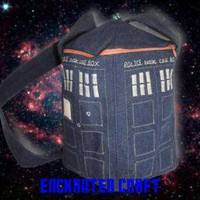 Dr Who TaRDis bag with zipper & 2 pockets by enchantedcraft