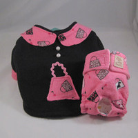 Pink Diva Dog Sweater and Purse print Diaper by LittleDogFashion