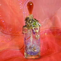 Purple Mystic Bottle Mystic Vessel Spirit Jar by mystic2awesome