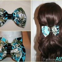 Multi- Printed floral Clip on Hair Bow