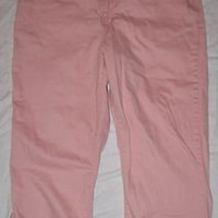 FADED GLORY JEANS PINK STRETCH CROPPED PANTS CAPRI 16 PASTEL LAST CHANCE! CRUISE