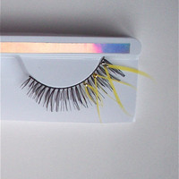 Mod Yellow Mini Day Wear Feather Lashes