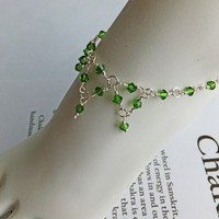 Unique Heart Chakra Clearing Swarovski Crystal Anklet
