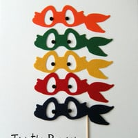 Photobooth prop KIT Mutant Ninja Turles by KittyDuneCuts on Etsy