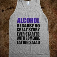 Alcohol - Grey Tank - Underline Designs